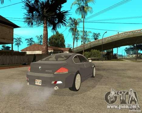BMW 645Ci 04 für GTA San Andreas zurück linke Ansicht