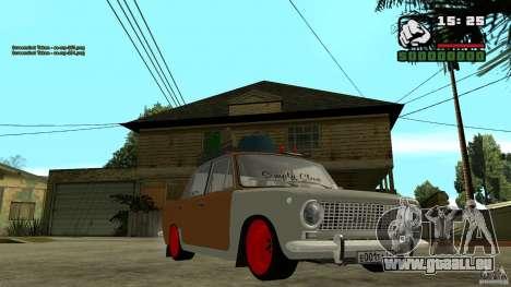 Lada 2101 OnlyDropped pour GTA San Andreas vue arrière