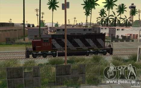 CN SD40 ZEBRA STRIPES pour GTA San Andreas vue de dessous