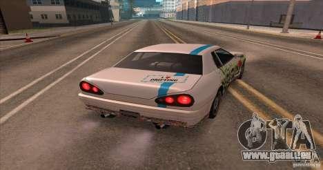 Paintjob for Elegy pour GTA San Andreas sur la vue arrière gauche