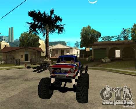 ZAZ-MONSTER für GTA San Andreas Rückansicht