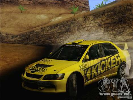 Mitsubishi Lancer Evolution IX Rally pour GTA San Andreas roue