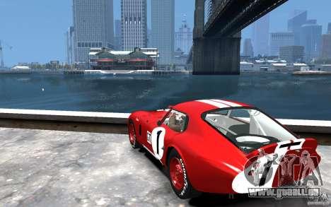 Shelby Cobra Daytona Coupe 1965 pour GTA 4 Vue arrière de la gauche