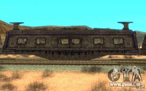 Ein Zug aus dem Spiel Aliens Vs Predator v1 für GTA San Andreas zurück linke Ansicht