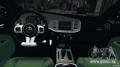 Dodge Charger SRT8 2012 v2.0 für GTA 4 Rückansicht