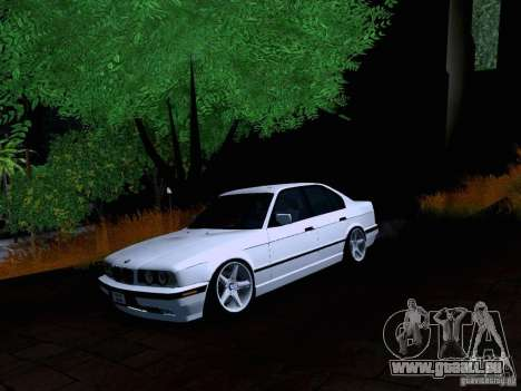 BMW M5 E34 Stance pour GTA San Andreas sur la vue arrière gauche