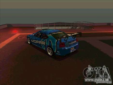 Mopar Dodge Charger für GTA San Andreas zurück linke Ansicht