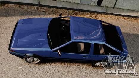 Toyota Sprinter Trueno GT 1985 Apex [EPM] pour GTA 4 est un droit