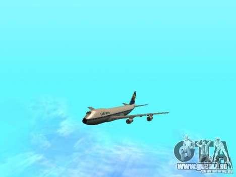 Boeing 747-100 Lufthansa für GTA San Andreas Rückansicht