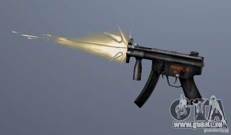 H&K MP5K pour GTA San Andreas troisième écran