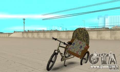Manual Rickshaw v2 Skin2 für GTA San Andreas