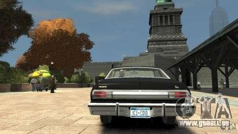 Plymouth Volare Coupe 1977 für GTA 4 hinten links Ansicht