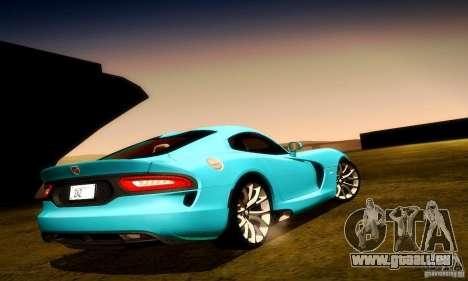 Dodge Viper SRT  GTS für GTA San Andreas Räder