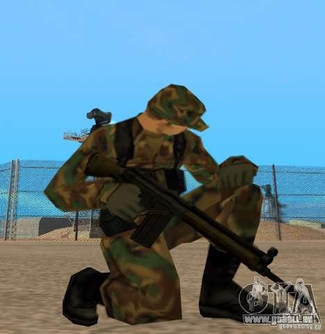 Fusil d'assaut G3A3 pour GTA San Andreas troisième écran