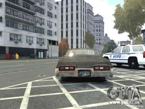 Dodge Monaco 1974 Rusty für GTA 4 hinten links Ansicht