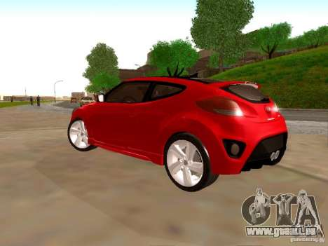 Hyundai Veloster Turbo v1.0 für GTA San Andreas Rückansicht