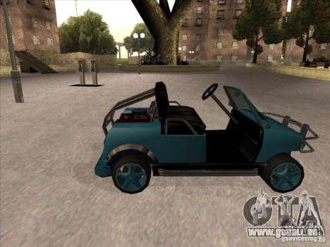 Small Cabrio pour GTA San Andreas laissé vue