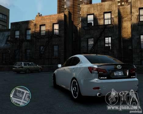 Lexus IS350 2006 v.1.0 pour GTA 4 est une gauche