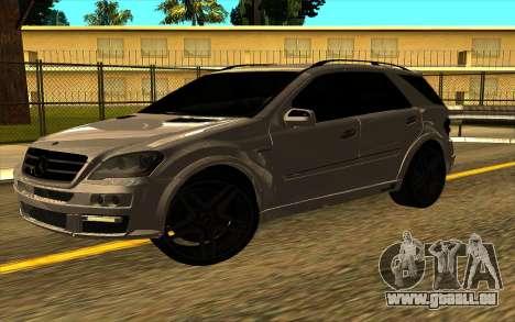 Mercedes-Benz ML63 AMG W165 Brabus pour GTA San Andreas vue de droite