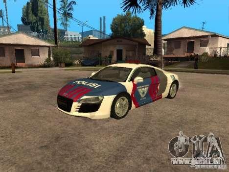 Audi R8 Police Indonesia für GTA San Andreas