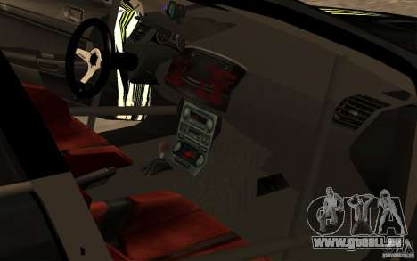 Mitsubishi Lancer Evolution X Monster Energy für GTA San Andreas Rückansicht