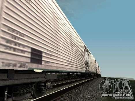 Refrežiratornyj wagon Dessau no 3 pour GTA San Andreas sur la vue arrière gauche