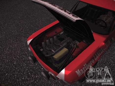 Lancia Fulvia Rally Marlboro für GTA San Andreas obere Ansicht