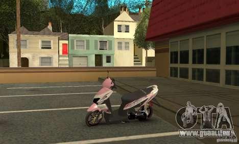 Honda Vario-Velg Racing pour GTA San Andreas vue arrière