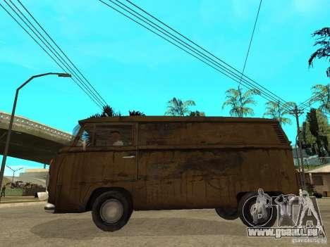 VW Transporter T2 1967 pour GTA San Andreas laissé vue