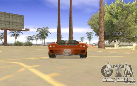 Veloche voiture pour GTA San Andreas vue intérieure