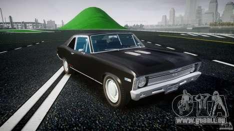 Chevrolet Nova 1969 für GTA 4 Rückansicht