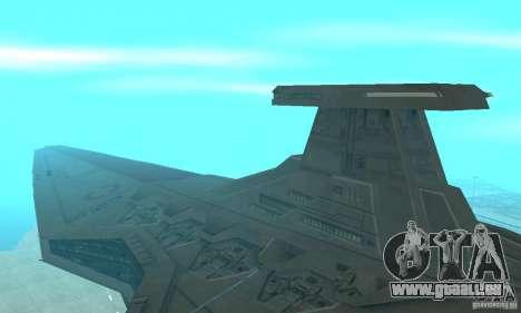 Republic Attack Cruiser Venator class v2 für GTA San Andreas linke Ansicht