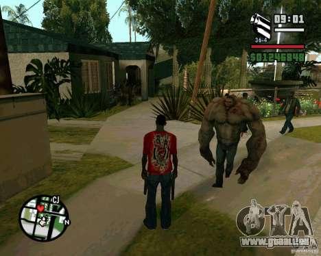 Réservoir de la Left 4 Dead. pour GTA San Andreas quatrième écran