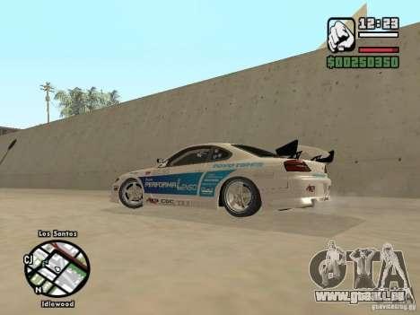 Nissan Silvia S15 Drift pour GTA San Andreas laissé vue