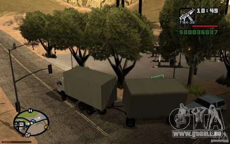 Tableau de bord actif 3.1 pour GTA San Andreas quatrième écran