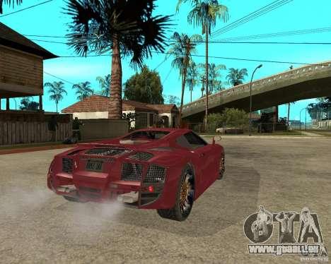 B-Engineering Edonis für GTA San Andreas zurück linke Ansicht
