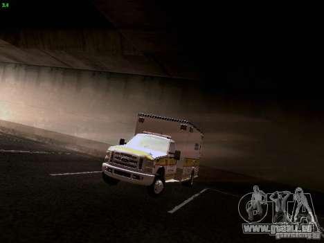 Ford F-350 Ambulance pour GTA San Andreas vue arrière