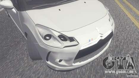 Citroen DS3 Convertible für GTA San Andreas rechten Ansicht
