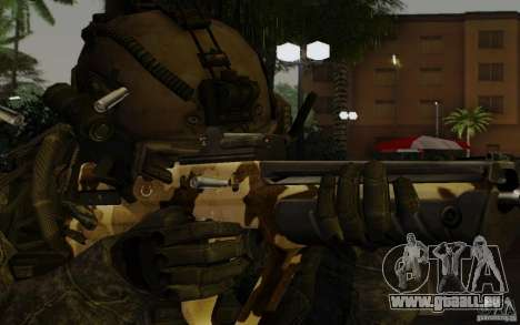 Tavor Tar-21 Camodesert für GTA San Andreas dritten Screenshot
