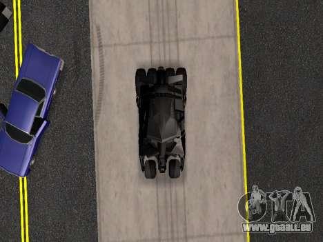Tumbler Batmobile 2.0 pour GTA San Andreas vue de côté