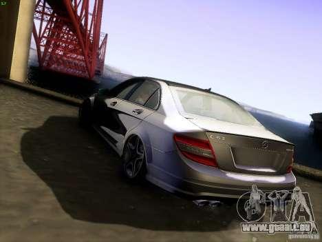 Mercedes-Benz C36 AMG pour GTA San Andreas laissé vue