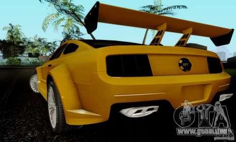 Ford Mustang GT pour GTA San Andreas vue intérieure