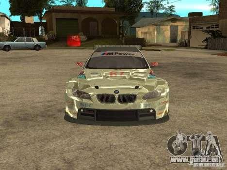 BMW M3 GT2 pour GTA San Andreas vue intérieure