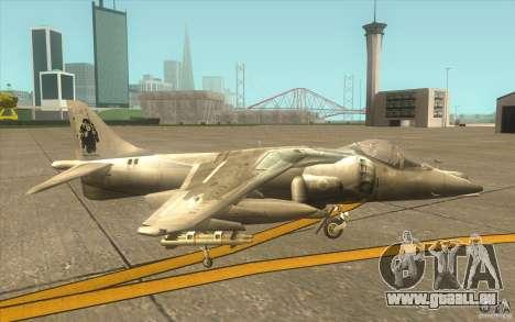 Harrier GR7 für GTA San Andreas zurück linke Ansicht