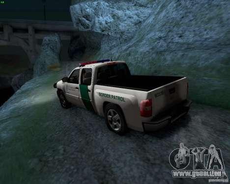 Chevrolet Silverado Police pour GTA San Andreas vue arrière