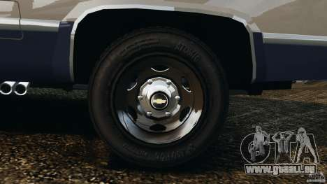 Chevrolet Silverado 1986 pour GTA 4 vue de dessus