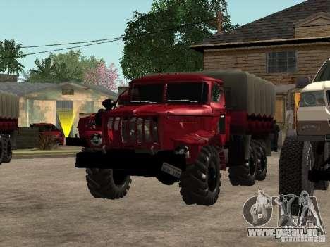 Ural-4320 für GTA San Andreas Innenansicht