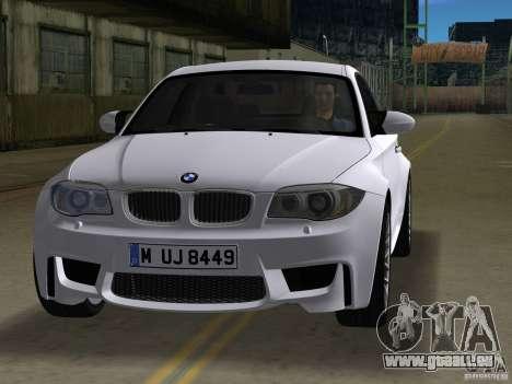 BMW 1M Coupe RHD pour une vue GTA Vice City de la gauche
