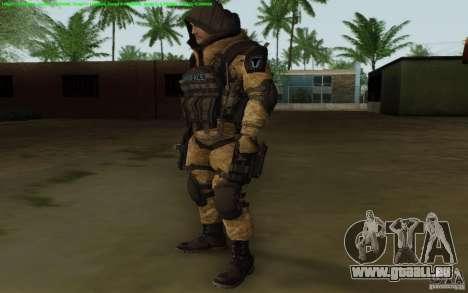 Tireur d'élite Warface pour GTA San Andreas deuxième écran