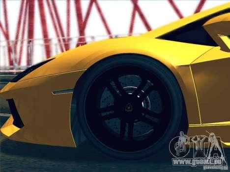 Lamborghini Aventador LP700-4 2011 V1.0 pour GTA San Andreas vue arrière